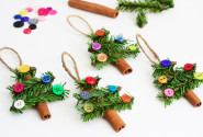 Cinnamon christmas tree ornaments