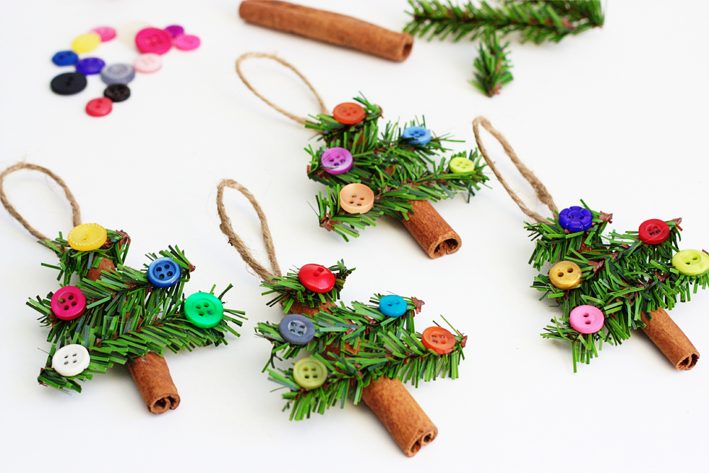 cinnamon christmas tree ornaments - Homemade Christmas Ornament Ideas